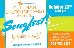Cullman Songfest Oct 23, 2016